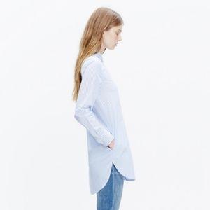 Madewell Mixed Stripe Button Down Tunic Shirt